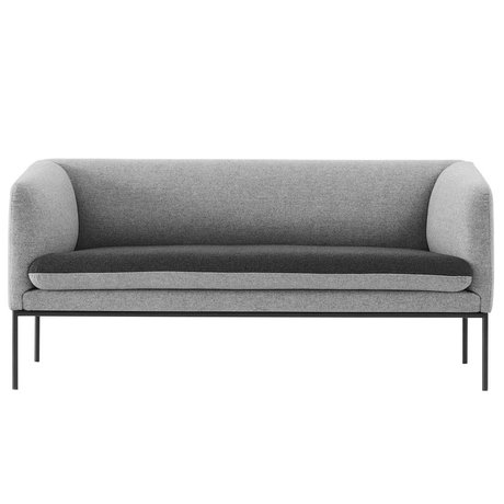 Ferm Living Sofá de la curva 2 plazas gris Wole 160x71x73cm
