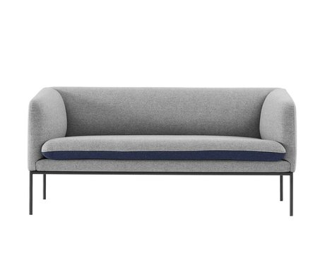 Ferm Living Couch Turn 2 seater gray blue cotton 160x71x73cm