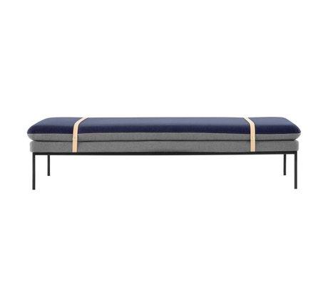 Ferm Living Couch Banquette Tournez bleu gris Baumwole 190x80x42cm