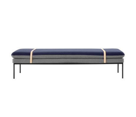 Ferm Living Couch Daybed Turn grå blå Baumwole 190x80x42cm