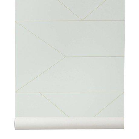 Ferm Living broken wallpaper Lines white 10x0,53m