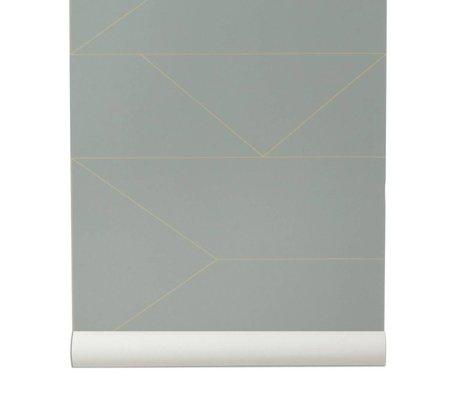 Ferm Living Wallpaper Lines gray 10x0,53m