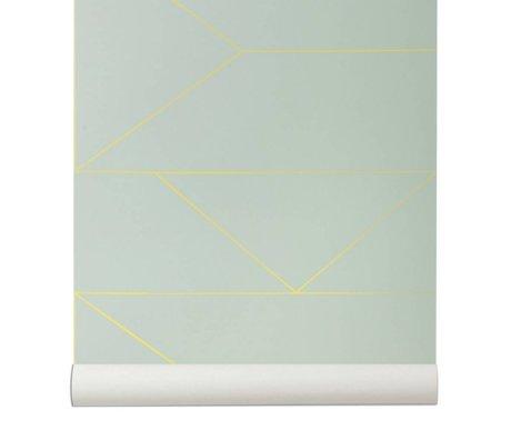 Ferm Living Líneas wallpaper 10x0,53m mintgrün