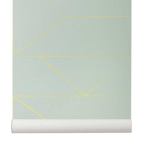 Ferm Living Wallpaper Lines mintgrün 10x0,53m
