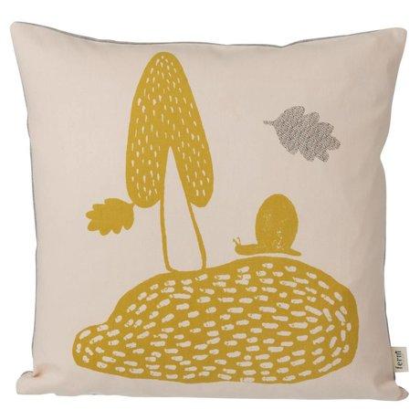 Ferm Living Cushion Landscape pink 40x40cm