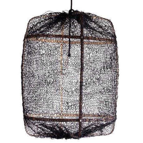 Ay Illuminate Hængende lampe bambus med sort cover lavet af sisal ø67x100cm