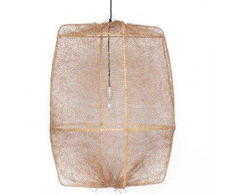 Ay Illuminate Colgando de bambú Lámpara Z2 Ona con tapas marrones hechos de sisal ø77x105cm