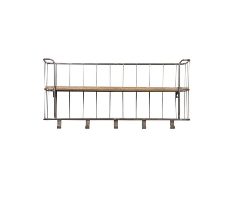 BePureHome Armario Giro de metal gris madera 40x85x20cm