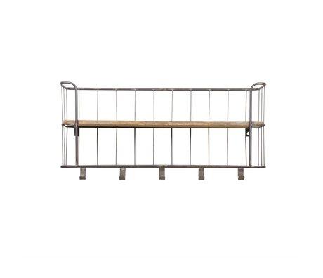 BePureHome Armoire Giro métal terne 40x85x20cm du bois