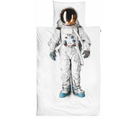 Snurk Astronaut cotton linens, white, 140x220cm