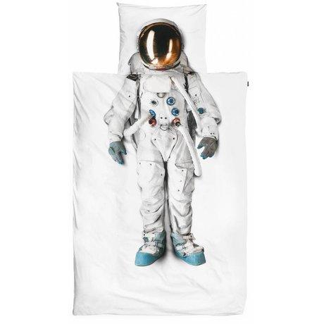 Snurk Bettwäsche Astronaut aus Baumwolle, weiß, 140x220cm
