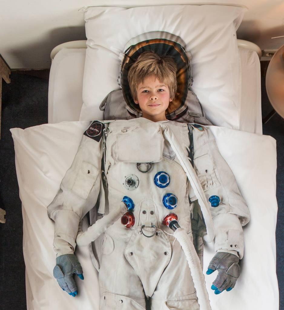 Snurk Bettwäsche Astronaut Aus Baumwolle Weiß 140x220cm Leflivingde