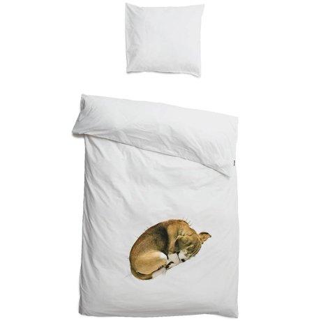 Snurk Bob hund strøelse, hvid 3 størrelser