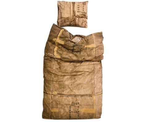 Snurk Cartulina de lino, marrón / crema, disponible en 3 tamaños