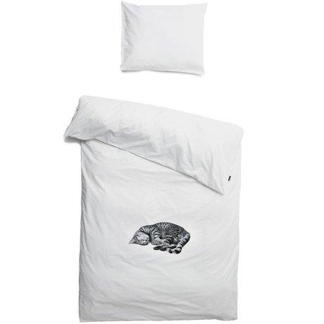 Snurk Bettwäsche Katze Ollie, weiß, in 3 Größen