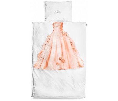 Snurk Biancheria da principessa, bianco / rosa, 140x220cm