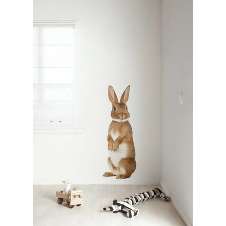 Kek Amsterdam Wall Decal Rabbit XL Forest Friend, multicolour, 43x118cm