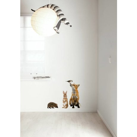 Kek Amsterdam Wall Decal Forest Friends set 3, multicolore
