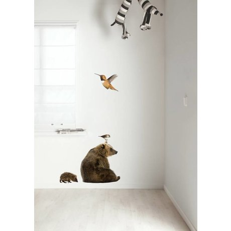 Kek Amsterdam Wall Decal Forest Friends Set 5, multicolore
