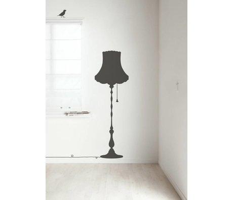 Kek Amsterdam Wandtattoo Vintage Furniture Lamp, dunkelgrau, 50x155cm