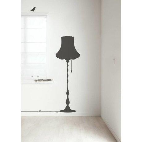 Kek Amsterdam Wall Decal Vintage Furniture Lamp, dark gray, 50x155cm