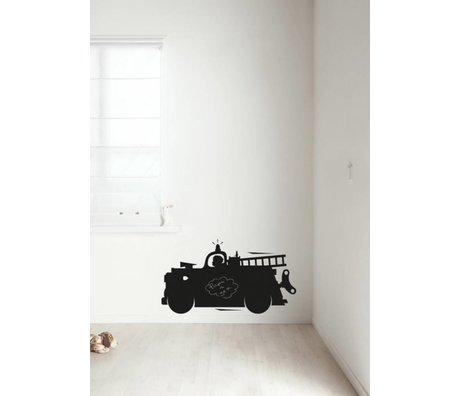 Kek Amsterdam Pizarra camión de bomberos película, negro, disponible en 2 tamaños