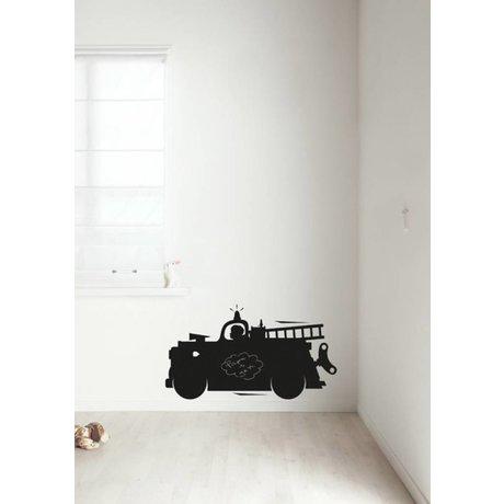 Kek Amsterdam Kreidetafelfolie Feuerwehrauto, schwarz, in 2 Größen