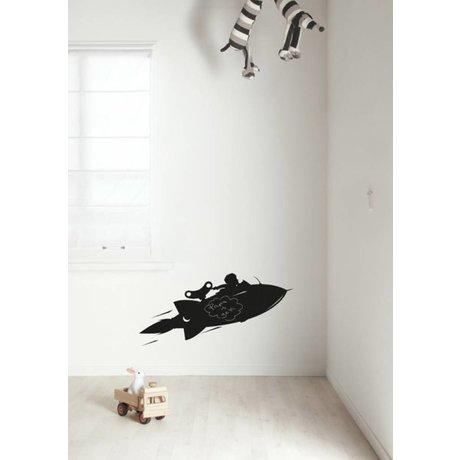 Kek Amsterdam Pizarra diapositiva Rocket, negro, disponible en 2 tamaños