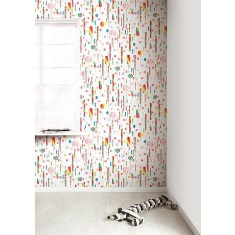 Kek Amsterdam Lolly carta da parati, multi-colore / bianco, 8.3 MX47, 5cm, 4m ²