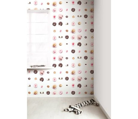 Kek Amsterdam Tortas Wallpaper, rosa / blanco / marrón, 8,3 MX47, 5cm, 4m ²