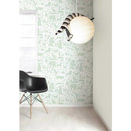 Kek Amsterdam Alphabet animals wallpaper, green / white, 8.3 MX47, 5cm, 4m ²