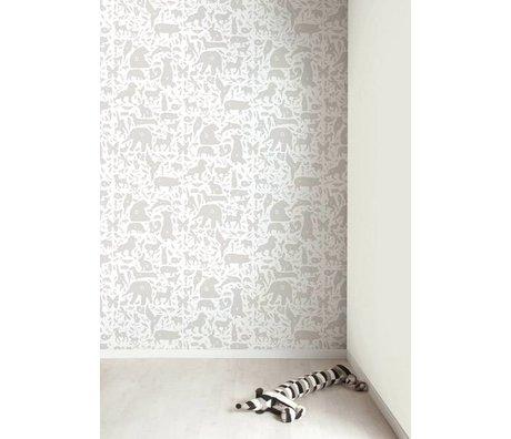 Kek Amsterdam Alfabeto de los animales fondos de escritorio, gris / blanco, 8.3 MX47, 5cm, 4m ²