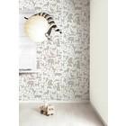Kek Amsterdam Alphabet animals wallpaper, taupe / white, 8.3 MX47, 5cm, 4m ²