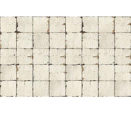 Merci Brooklyn Tins papier peint, blanc / crème, Tin-02