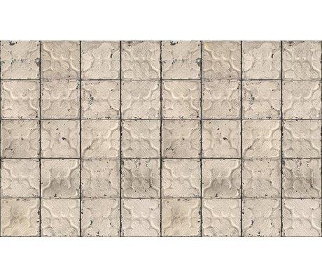 Merci Brooklyn Latas wallpaper, gris / crema, Tin-03