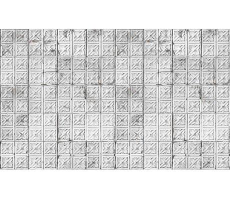 Merci Brooklyn Tins papier peint, gris / blanc, étain-04