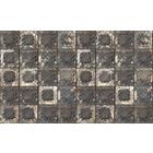Merci Wallpaper Brooklyn Tins, black / white / stainless, tin-07