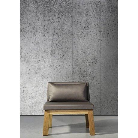 Piet Boon Papel pintado aspecto concreto concreto5, gris, 9 metros