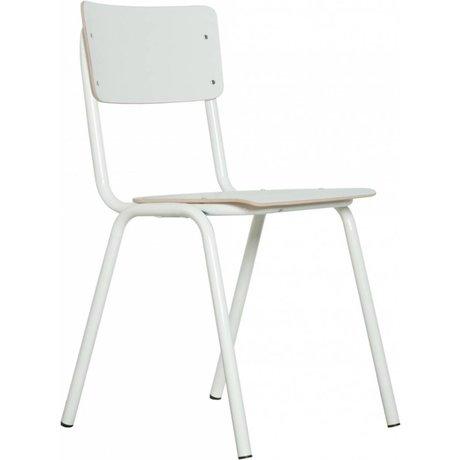 Zuiver Chaise à l'école, blanc, 43x38x83