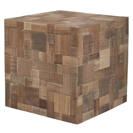 Zuiver Sædehynder lavet af træ, brun, 40x40x40cm