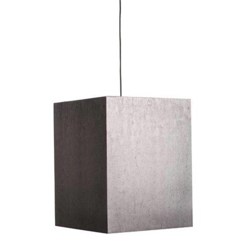 Zuiver Hanging pesante luce della lampada di cartone di cemento, grigio, 38x38x48cm