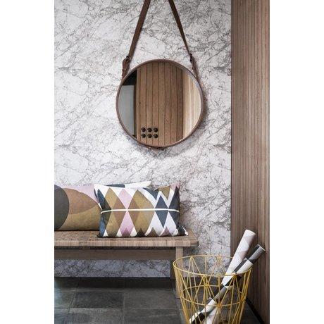 Ferm Living Fond d'écran marbre, blanc / gris, 10.05mtrx53cm