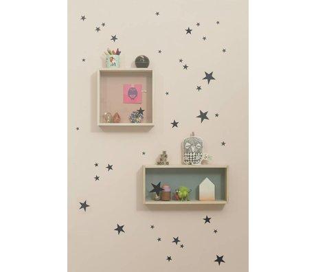 Ferm Living Wall Decal star black vinyl