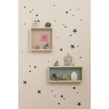 Ferm Living Sticker murale stella vinile nero