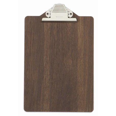 Ferm Living Klemmtafel aus Holz, braun, 23x31.5cm