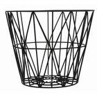 Ferm Living Basket made of iron, black, 3 sizes: 40x35cm, 50x40cm, 60x45cm