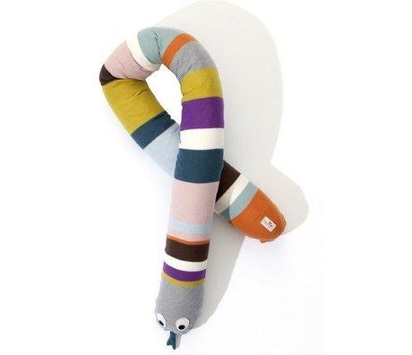 Ferm Living Pillow Snake bomuld, flerfarvet, 180cm