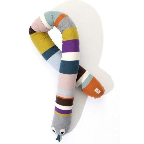 Ferm Living Algodón Serpiente almohada, multicolor, 180cm