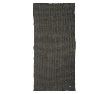Ferm Living Handtuch aus Bio-Baumwolle, grau, 50x100cm oder 70x140cm