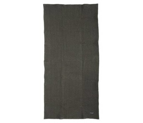 Ferm Living Toallas hechas de algodón orgánico, gris, 50x100cm 70x140cm o